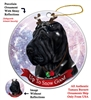 Shar Pei Black - Up to Snow Good Holiday Ornament - Made in the USA