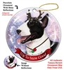 Bull Terrier Black and White - Up to Snow Good Holiday Ornament - Made in the USA