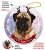 Bullmastiff - Up to Snow Good Holiday Ornament - Made in the USA