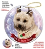 Cairn Terrier Wheaten - Up to Snow Good Holiday Ornament - Made in the USA
