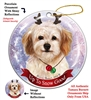 Cavachon - Up to Snow Good Holiday Ornament - Made in the USA