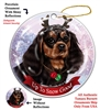 Cavalier King Charles Black/Tan - Up to Snow Good Holiday Ornament - Made in the USA