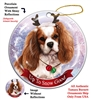 Cavalier King Charles Blenheim - Up to Snow Good Holiday Ornament - Made in the USA
