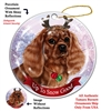 Cavalier King Charles Ruby - Up to Snow Good Holiday Ornament - Made in the USA
