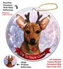 Chiweenie Red - Up to Snow Good Holiday Ornament - Made in the USA