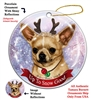 Chihuahua SH Fawn - Up to Snow Good Holiday Ornament - Made in the USA