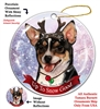 Chihuahua SH Tri - Up to Snow Good Holiday Ornament - Made in the USA