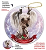 Chinese Crested Hairless - Up to Snow Good Holiday Ornament - Made in the USA