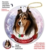 Sheltie Sable - Up to Snow Good Holiday Ornament - Made in the USA
