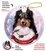 Sheltie Tricolor - Up to Snow Good Holiday Ornament - Made in the USA