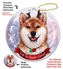 Shiba Inu Red/White - Up to Snow Good Holiday Ornament - Made in the USA