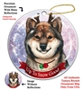 Shiba Inu Sesame - Up to Snow Good Holiday Ornament - Made in the USA