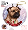 Staffordshire Bull Terrier Fawn - Up to Snow Good Holiday Ornament - Made in the USA