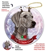 Weimaraner - Up to Snow Good Holiday Ornament - Made in the USA