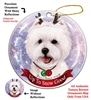 Westie - Up to Snow Good Holiday Ornament - Made in the USA