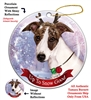 Whippet Dark Brindle/White - Up to Snow Good Holiday Ornament - Made in the USA
