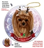 Yorkie - Up to Snow Good Holiday Ornament - Made in the USA
