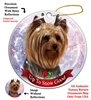Yorkie Light - Up to Snow Good Holiday Ornament - Made in the USA