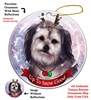 Yorkipoo Silver - Up to Snow Good Holiday Ornament - Made in the USA