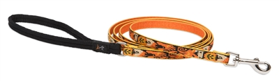 "Lupine 1/2"" Spooky 4' Padded Handle Leash"