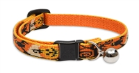 "Lupine 1/2"" Spooky Cat Safety Collar with Bell"