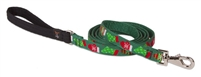 "Lupine 3/4"" Christmas Cheer 6' Padded Handle Leash - Medium Dog"
