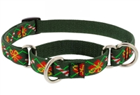 "Lupine 3/4"" Santa's Treats 10-14"" Martingale Training Collar"