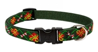 "Lupine 3/4"" Santa's Treats 13-22"" Adjustable Collar"