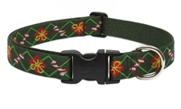 "Lupine 1"" Santa's Treats 16-28"" Adjustable Collar - Large Dog"
