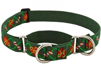 "Lupine 1"" Santa's Treats 19-27 Martingale Training Collar - Large Dog"