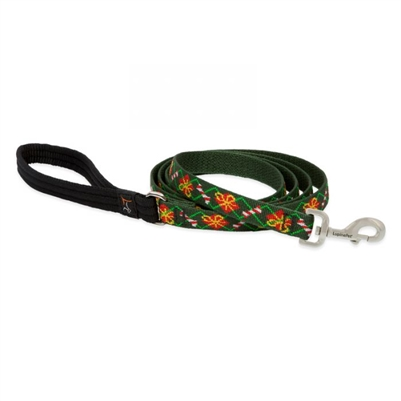 "Lupine 1"" Santa's Treats 6' Padded Handle Leash"