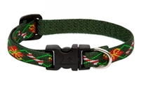 "LupinePet 1/2"" Santa's Treats 8-12"" Adjustable Collar - Small Dog"