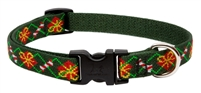 "Lupine 3/4"" Santa's Treats 9-14"" Adjustable Collar"