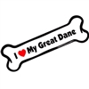 I Love My Great Dane Bone Magnet