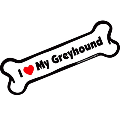 I Love My Greyhound Bone Magnet