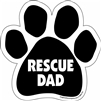 Rescue Dad Paw Magnet