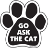 Go Ask the Cat Paw Magnet