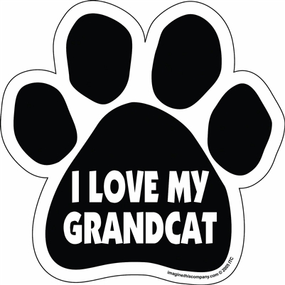 I Love My Grandcat Paw Magnet