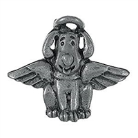 Dog Angel Pin - Pewter