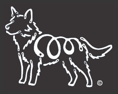 K-Lines Australian Cattle Dog - Window Decal