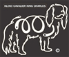 K-Lines Cavalier King Charles - Window Decal