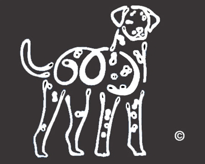 K-Lines Dalmatian - Window Decal