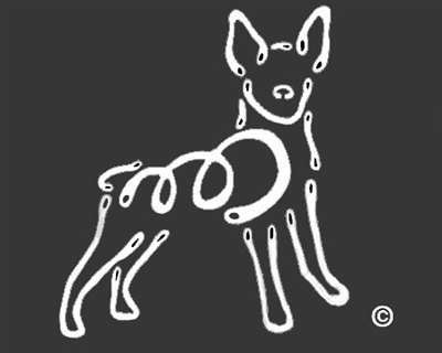K-Lines Rat Terrier - Window Decal