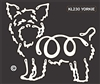 K-Lines Yorkie - Window Decal
