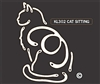 K-Lines Sitting Cat 1 - Window Decal