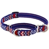 "Lupine 3/4"" America 10-14"" Combo/Martingale Training Collar - Medium Dog LIMITED EDITION"