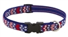 "LupinePet 3/4"" America 13-22"" Adjustable Collar - Medium Dog MicroBatch"