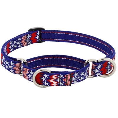 "Lupine 3/4"" America 14-20"" Martingale Training Collar - Medium Dog MicroBatch"