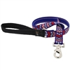 "Lupine 1"" America 4' Long Padded Handle Leash - Large Dog LIMITED EDITION"