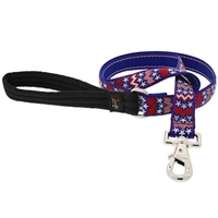 "Retired Lupine 1"" America 4' Long Padded Handle Leash - Large Dog"